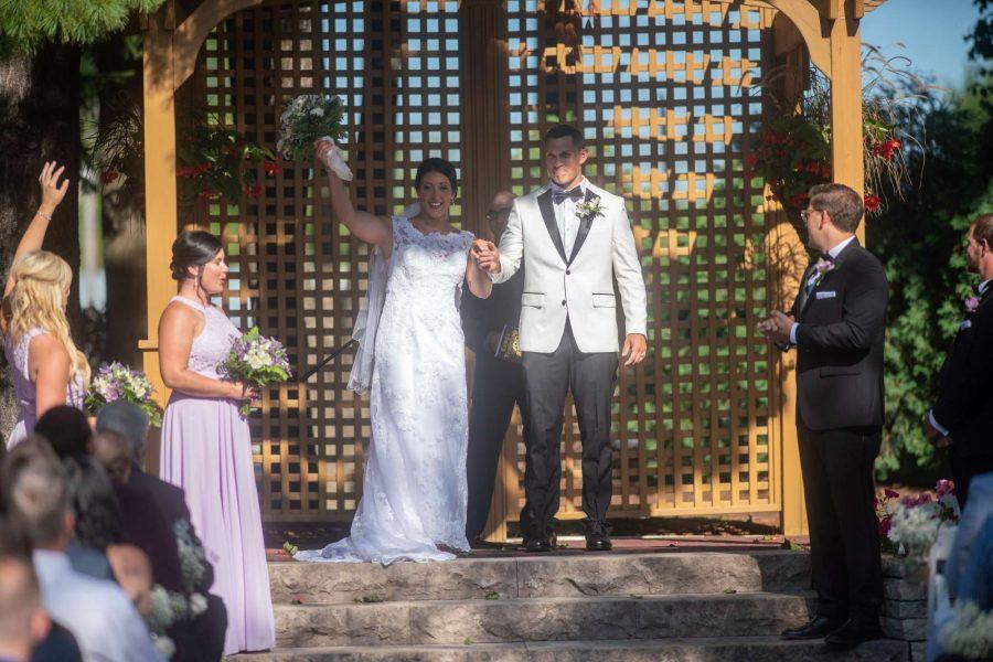 Wedding ceremony at Red Circle Inn