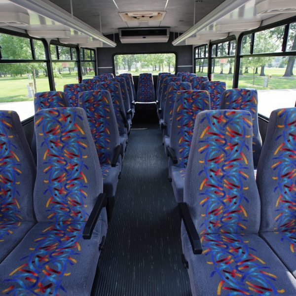Inside image of coach with comfortable seating