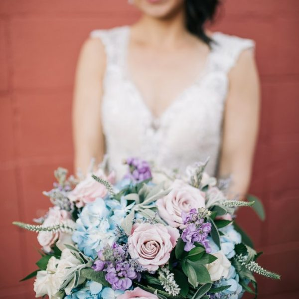 Pastel hued bouquet by Alfa Flower & Wedding Shop