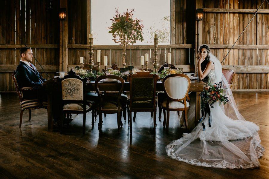 Lush tabletop florals by Alfa Flower & Wedding Shop