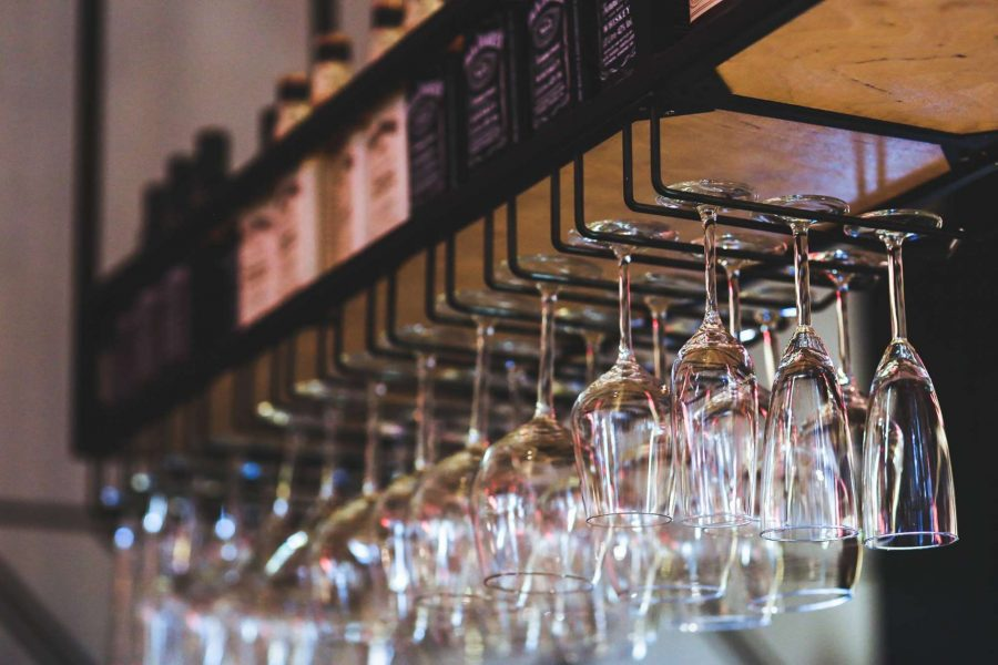 Wine glasses at Vino Third Ward