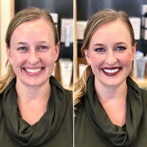 Before-After Wedding Makeup by Merle Norrman