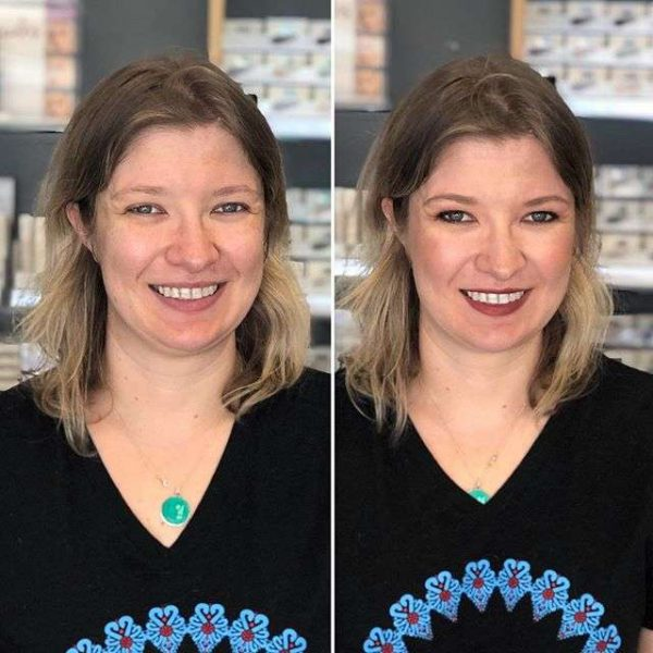 Before and After Makeup by Merle Norman