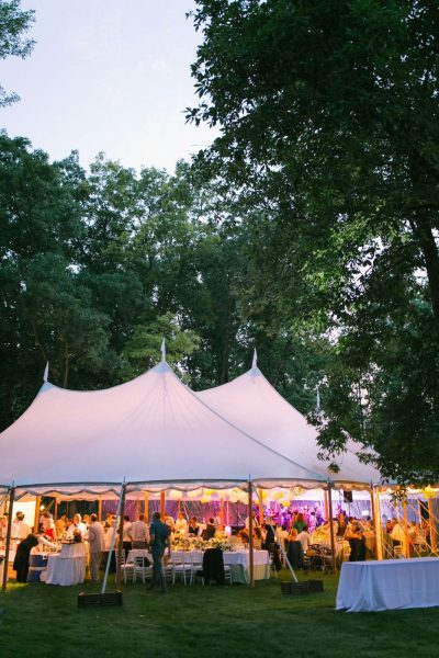Elegant tented wedding