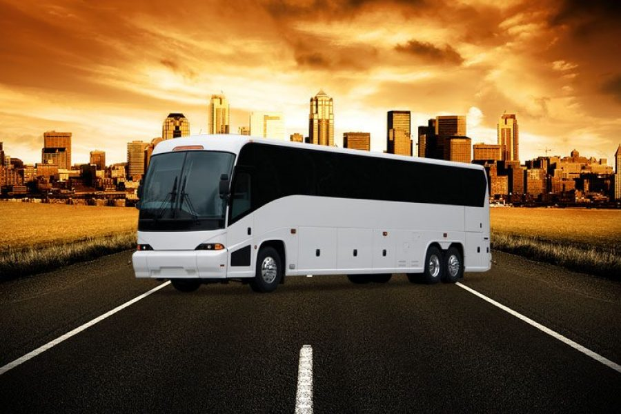 Outside image of a Party Bus, perfect for weddings