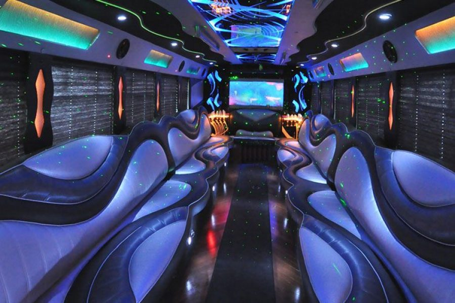 Inside image of a party bus