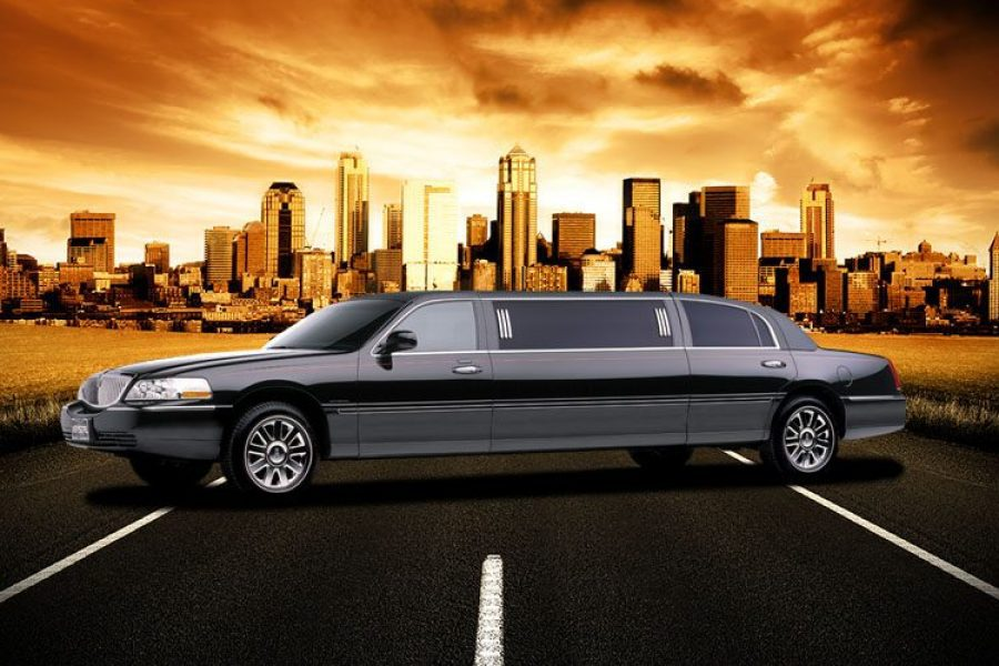 Outside picture of a limousine