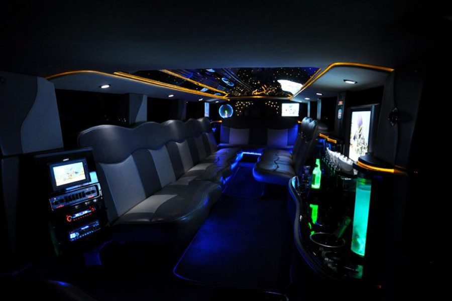 Inside image of a luxury limo
