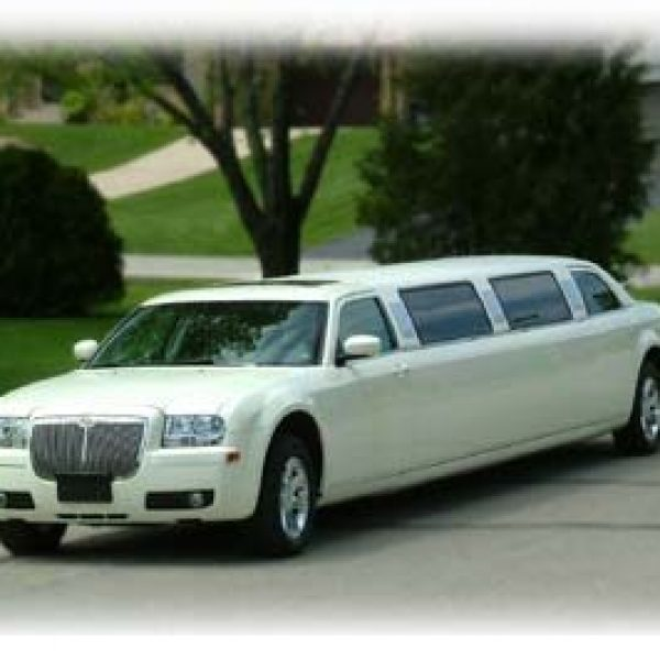Outside image of White Limousine - High Class Limousine