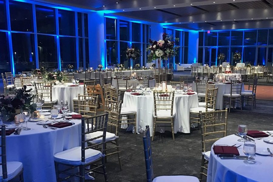 Beautiful wedding reception at Bartolotta Events & Catering at Discovery World