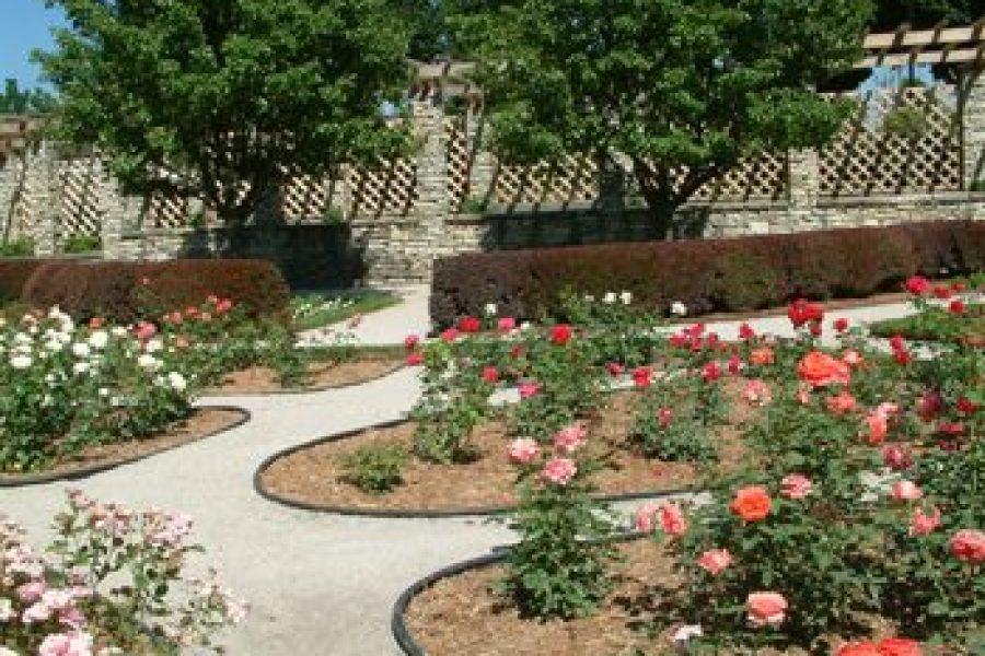 Beautiful garden area Park in the City of Waukesha