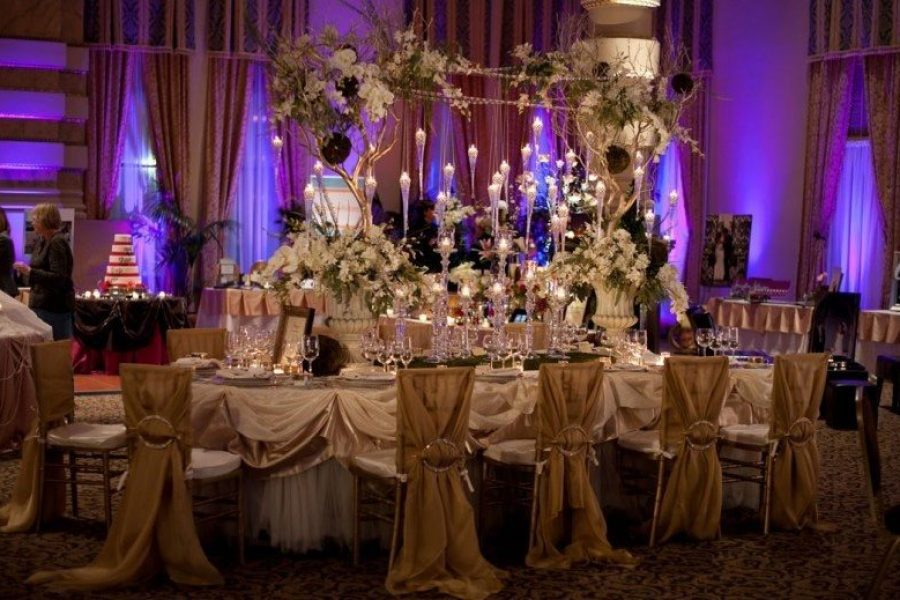 Lavish wedding display at the Grain Exchange in Milwaukee
