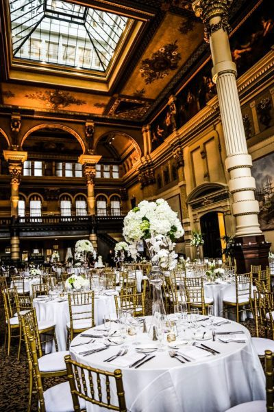 The stunning Grain Exchange in Milwaukee wedding reception