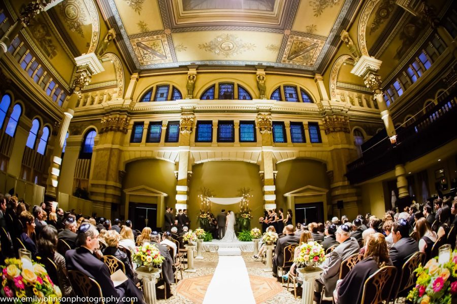 Wedding ceremony at the Grain Exchange Room