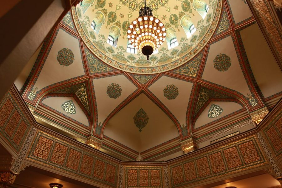 Beautiful architectural details at the Tripoli Shrine Center in Milwaukee
