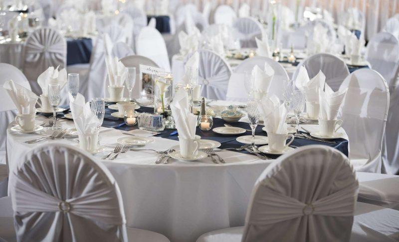 Crisp white wedding at Davians