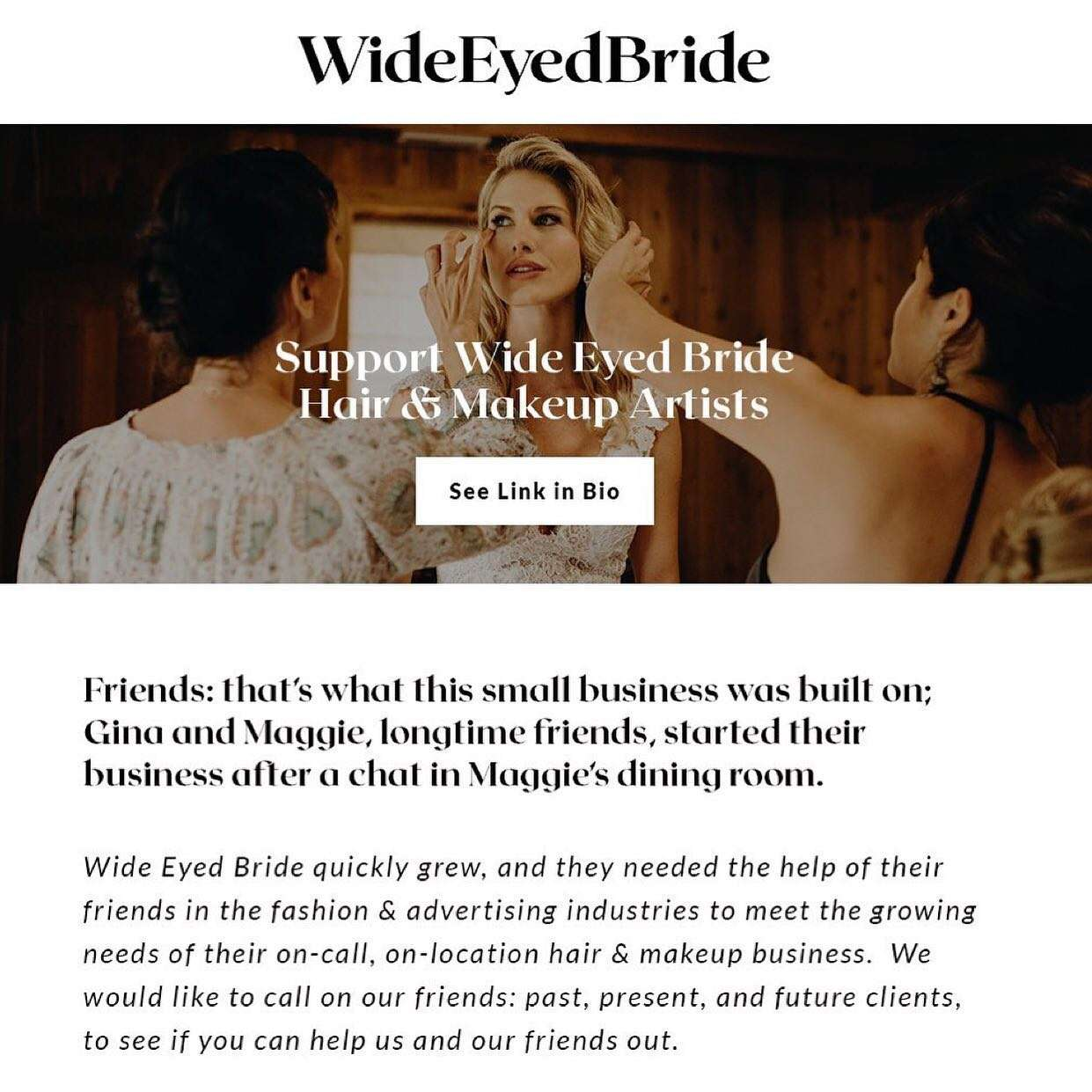 Covid 0 special from Wide Eyed Bride