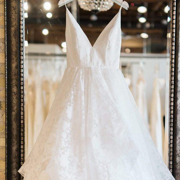 Wedding Dress on hanger at Miss Ruby