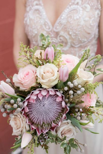 Pastel bouquet by Alfa Flower & Wedding Shop