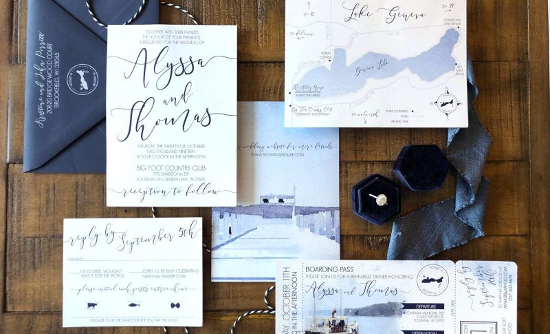 Custom wedding invitation by DCo Lovenotes-