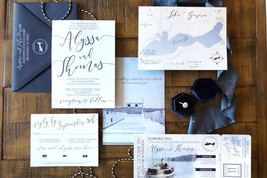 Custom wedding invitation by DCo Lovenotes-