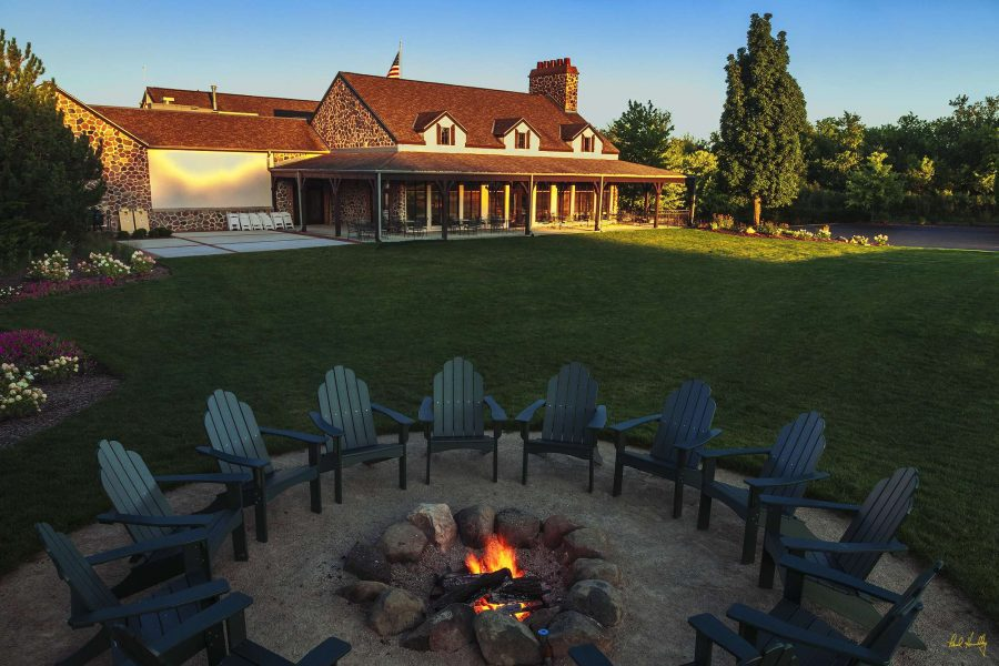 Fire pit at the Clubhouse at the Bog