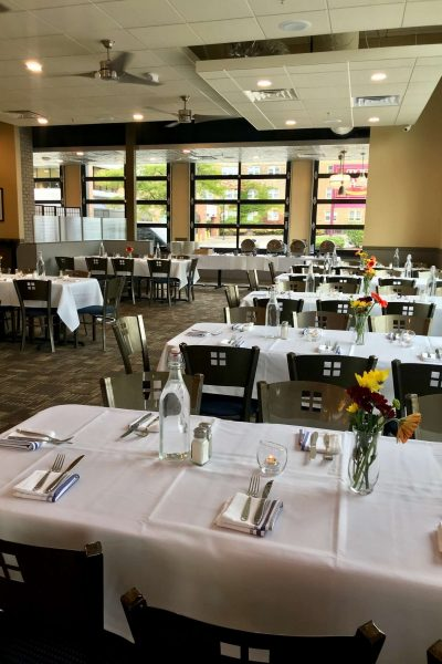Dining space at Blue's Egg Shorewood- Rehearsal dinners and more