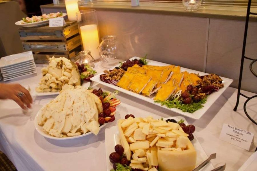 Cheese station at Blue's Egg Tosa