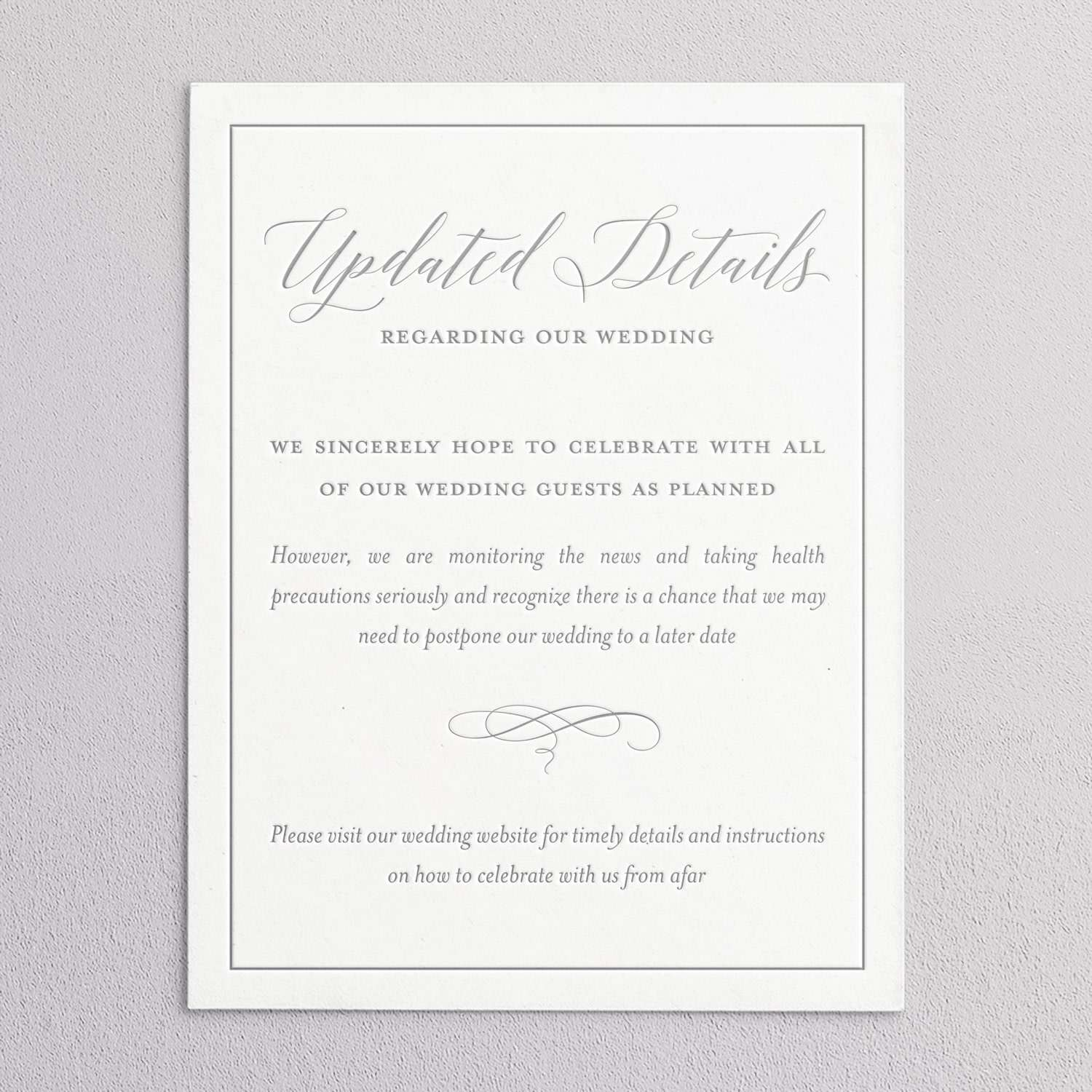 Updated details wedding invitation by Coqui Paperie