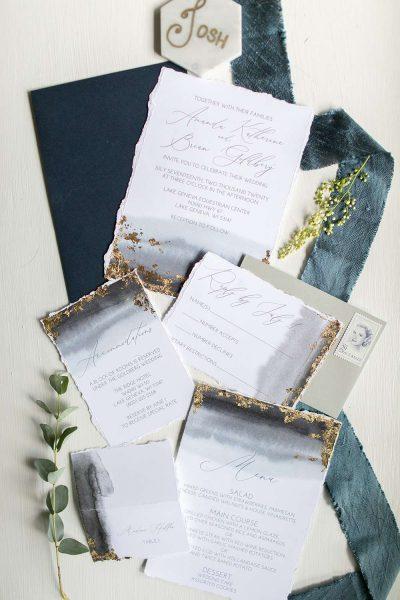 Elegant Wedding Invitation suite by DCo Lovenotes