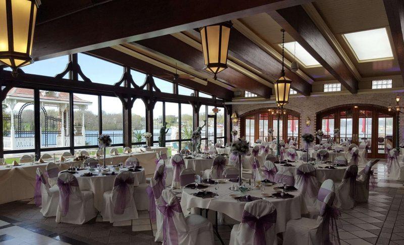 Beautiful Wedding Reception set up at Golden Mast