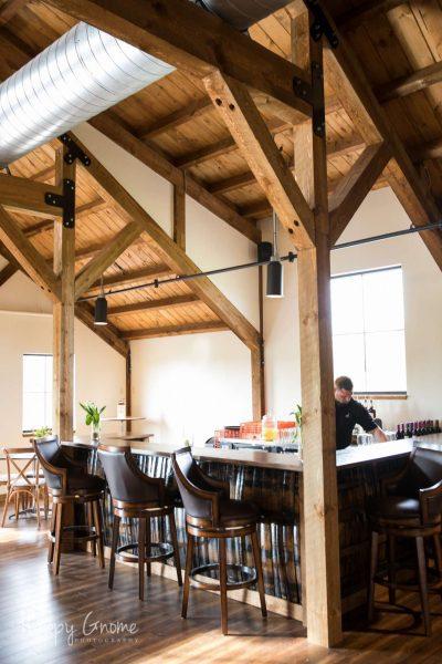 Bar area at the Barn at the Bog