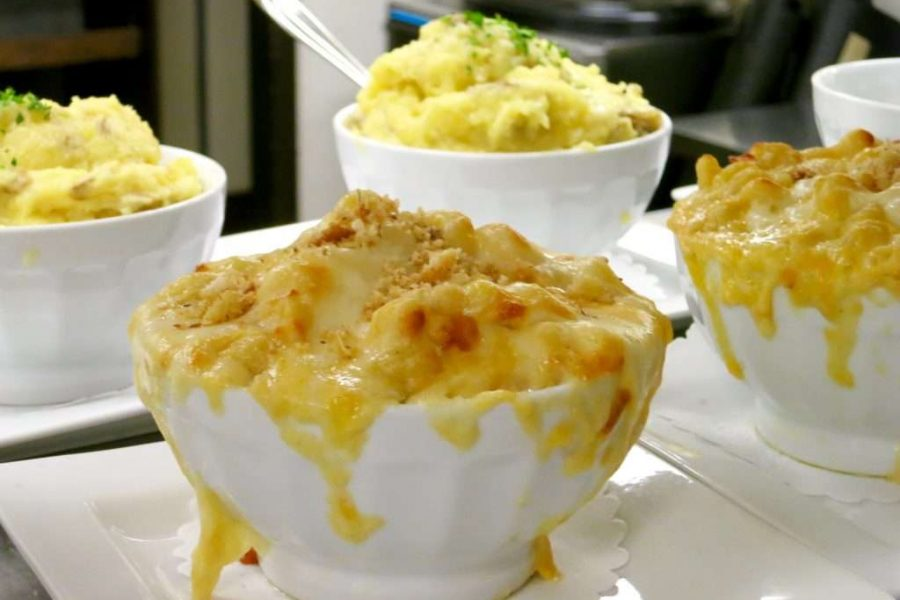 Mac n Cheese bowls at Blue's Egg Tosa