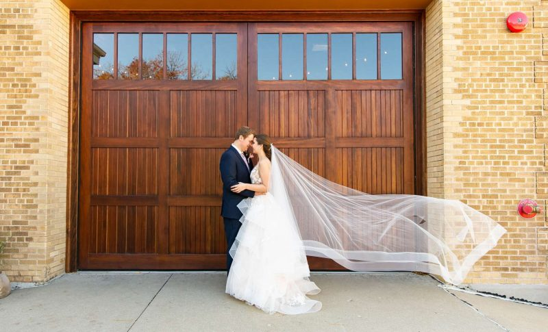 Bride and groom at Story Hill FireHouse