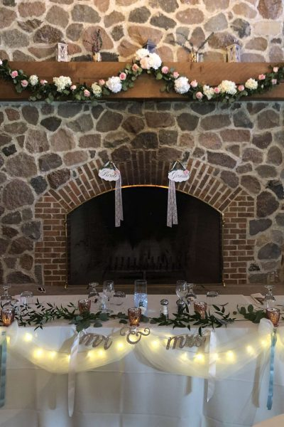 Fireplace at Clubhouse at the Bog