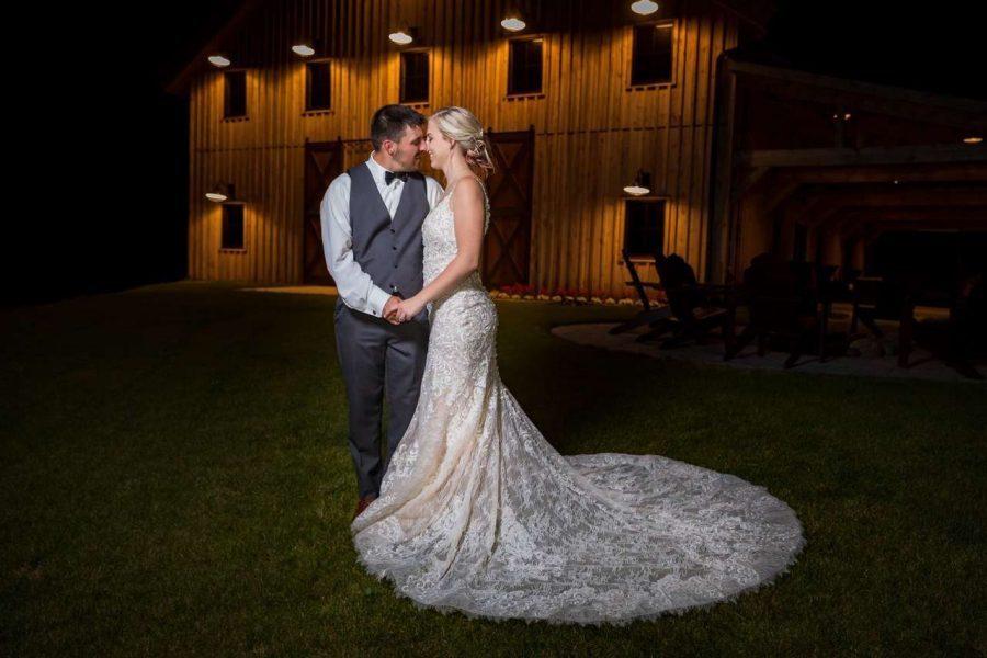 Newlyweds at the Barn at the Bog