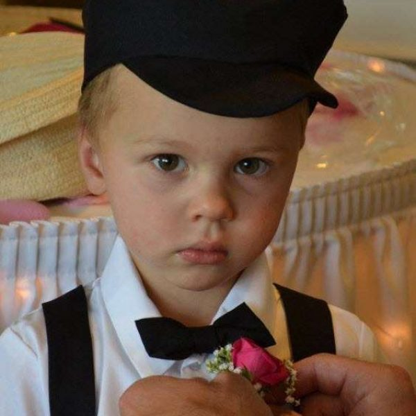 cute ring barer at wedding