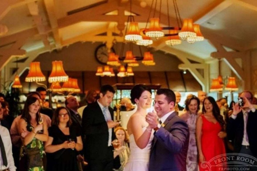 Bride and Groom Dancing at Lake Park Bistro Wedding