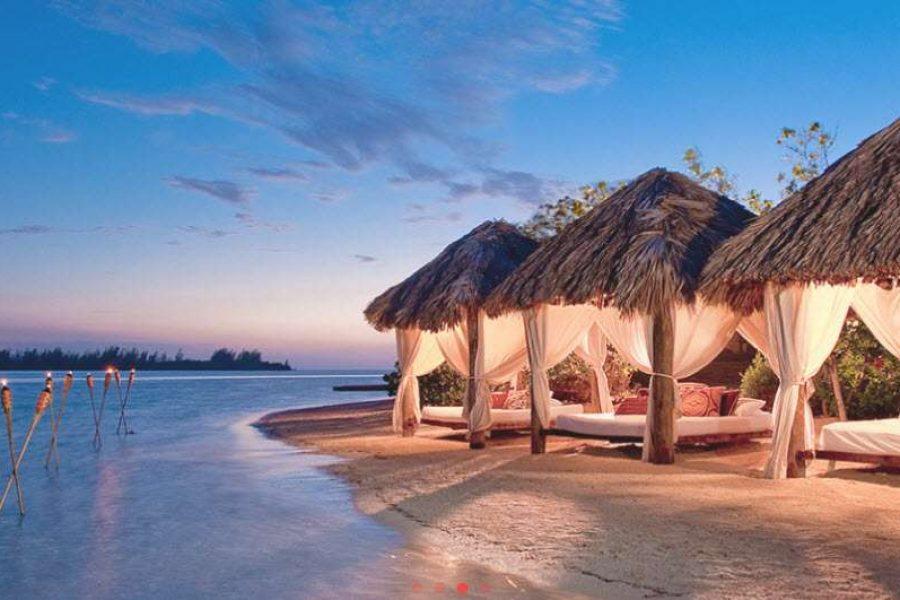 Gorgeous setting on ocean for honeymoon