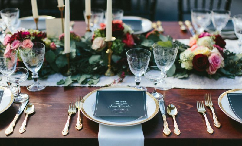 Beautiful table setting by Well Dressed Tables