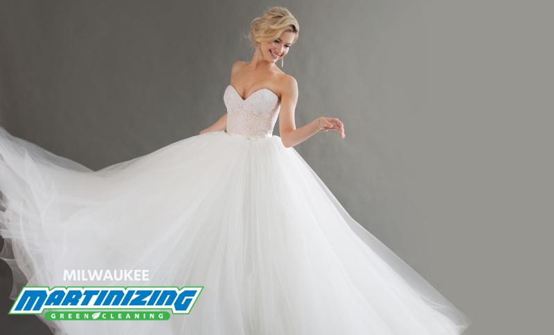 Bride in ballgown-Milwaukee Martinizing