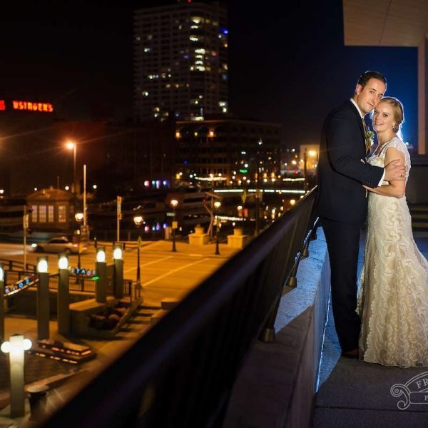 Wedding Couple at Marcus Center