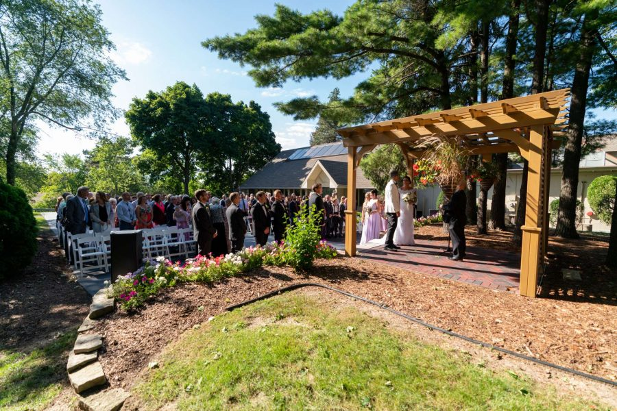 Outside Garden Ceremony at Red Circle Inn