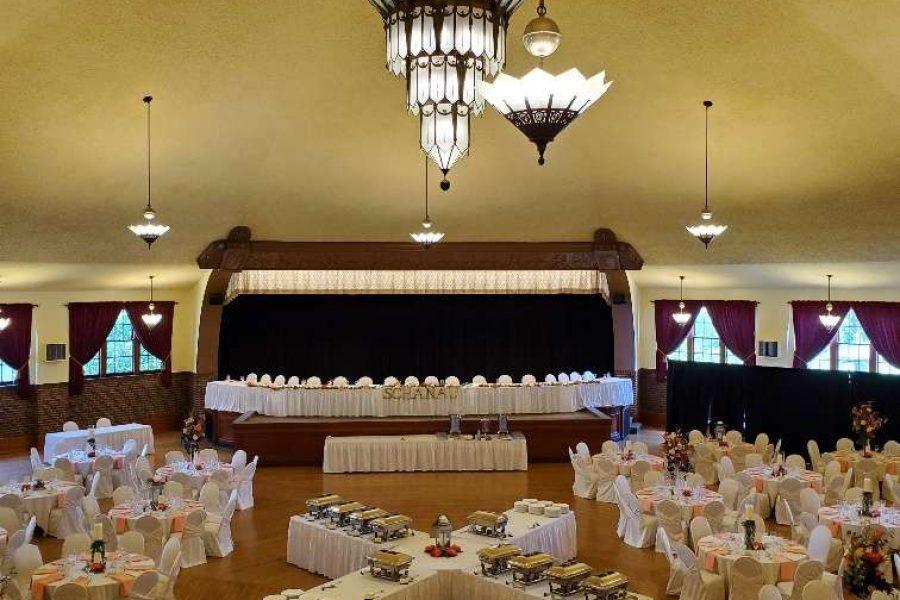 Chandelier Ballroom wedding