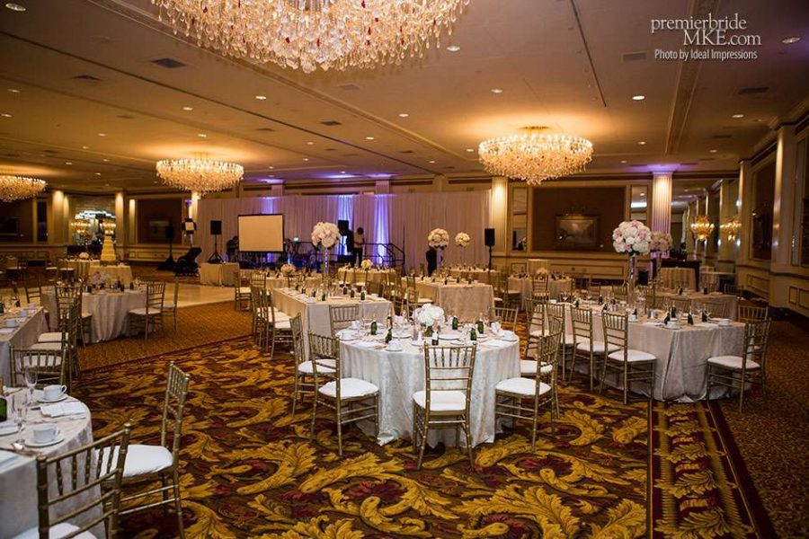 The Pfister Hotel Grand Ballroom beautifully decorated