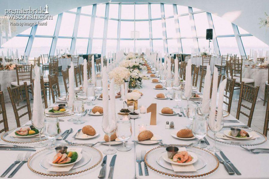 Wedding setup at Milwaukee Art Museum