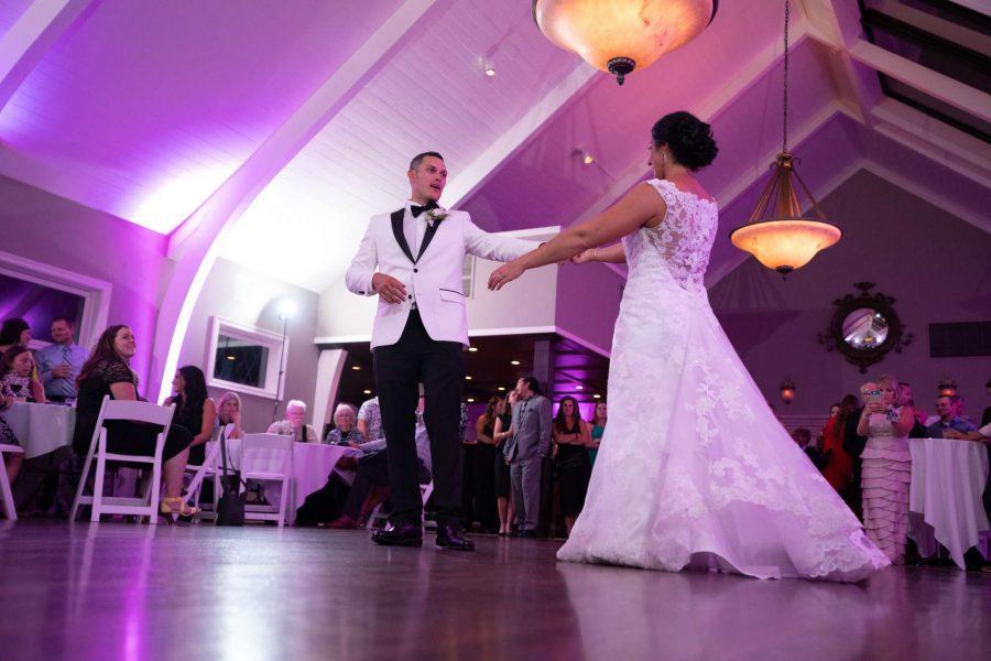 Bride and Groom dancing at Red Circle Inn