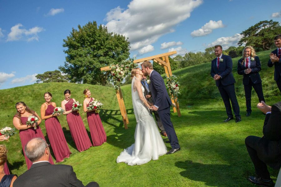 WEdding ceremony at the Carriage House