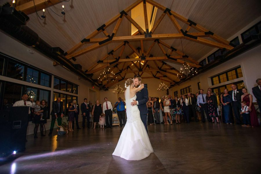 Bride and groom's first dance at the Carriage House