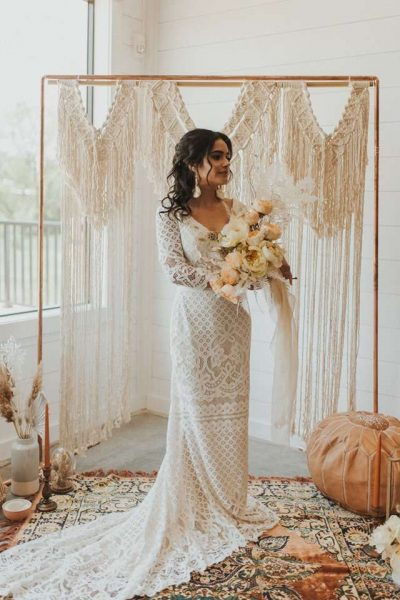 Savvy Bridal Wedding with bride holding her bridal bouquet